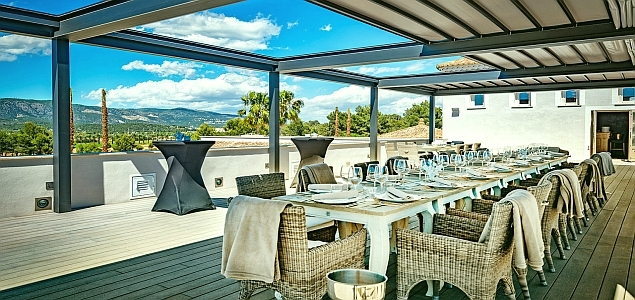 Golfplatz T Golf & Country Club Poniente Terrasse